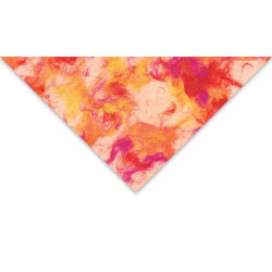 Lokta Paper - Marble Patch, Orange and Magenta, 20'' x 30''