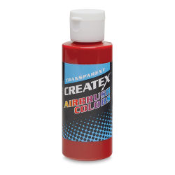 Createx Airbrush Color - 2 oz, Transparent Brite Red