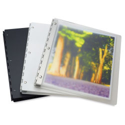 Pina Zangaro Vista Screwpost Presentation Book - 8-1/2'' x 11'', Mist, Imprinted, Landscape