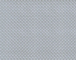 Plastruct Patterned Sheets, Diamond Plate, 1:100 Scale (finished example)