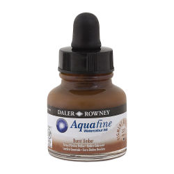 Daler-Rowney Aquafine Watercolour Ink - Burnt Umber