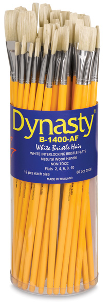 Dynasty Natural White Bristle Canister Assortments