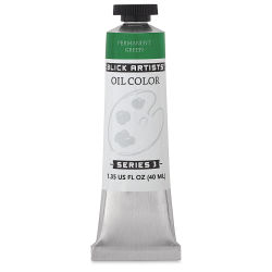 Blick Artists' Oil Color - Permanent Green, 40 ml tube