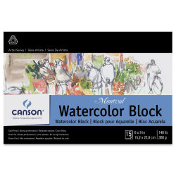 Canson Montval Watercolor Block - 6'' x 9'', 15 Sheets