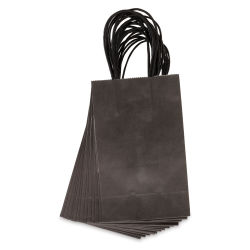 Gift Bags - Black, Pkg of 13, Small, 8-1/2'' x 5-1/4'' x 3-1/4''