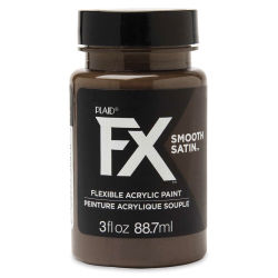 Plaid FX Smooth Satin Flexible Acrylic Paint - Charred Root, 3 oz