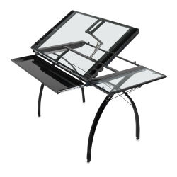 Studio Designs Futura Craft Station With Folding Shelf - Black