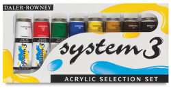 Daler-Rowney System 3 Acrylics - Selection Set, 8 Colors, .75 ml tubes
