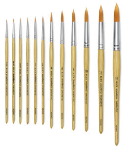 Blick Academic Synthetic Golden Taklon Brushes