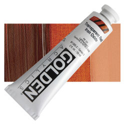Golden Heavy Body Artist Acrylics - Transparent Red Iron Oxide, 2 oz Tube