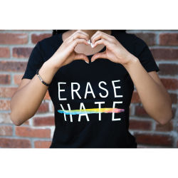 Chavez for Charity Erase Hate T-shirt - X-Large