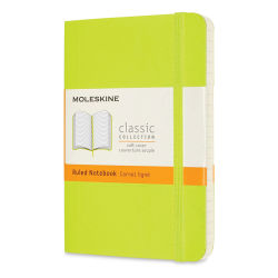 "Moleskine Classic Soft Cover Notebook - Light Green, Ruled, 5-1/2"" x 3-1/2"""