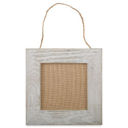 Hampton Art Weathered Frame with Burlap Panel - 10'' x 10''