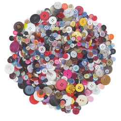 Craft Button Assortment - Assorted Colors, Sizes, and Styles, 1 lb