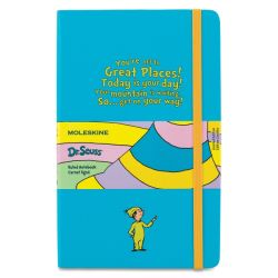 Oh The Places You'll Go Moleskine Notebook, Blue