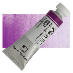PWC Extra Fine Professional Watercolor - Bright Violet, 15 ml, Swatch with Tube