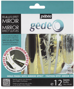 Pebeo Gedeo Mirror Effect - Gold Leaf, 12 Sheets