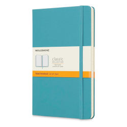 "Moleskine Classic Hardcover Notebook - Reef Blue, Ruled, 8-1/4"" x 5"""