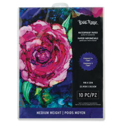 Brea Reese Waterproof Alcohol Ink Paper - 9'' x 10'', 10 Sheets