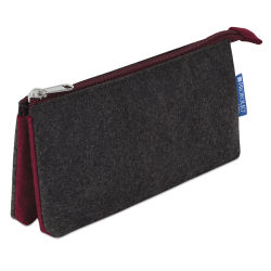 Itoya Profolio Midtown Pouch - Charcoal/Maroon, 4'' x 7''