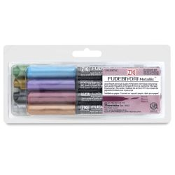 Zig Fudebiyori Metallic Brush Pens - Set of 8