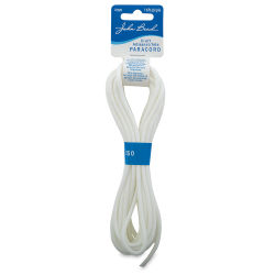 John Bead Craft Paracord - White, 1/8'' diam, 16 ft long