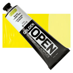 Golden Open Acrylics - Bismuth Vanadate Yellow, 5 oz, Tube with Swatch