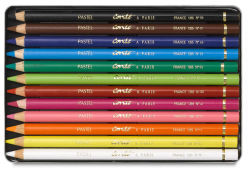 Conte Pastel Pencil Set - Assorted Colors, Set of 12, Tin