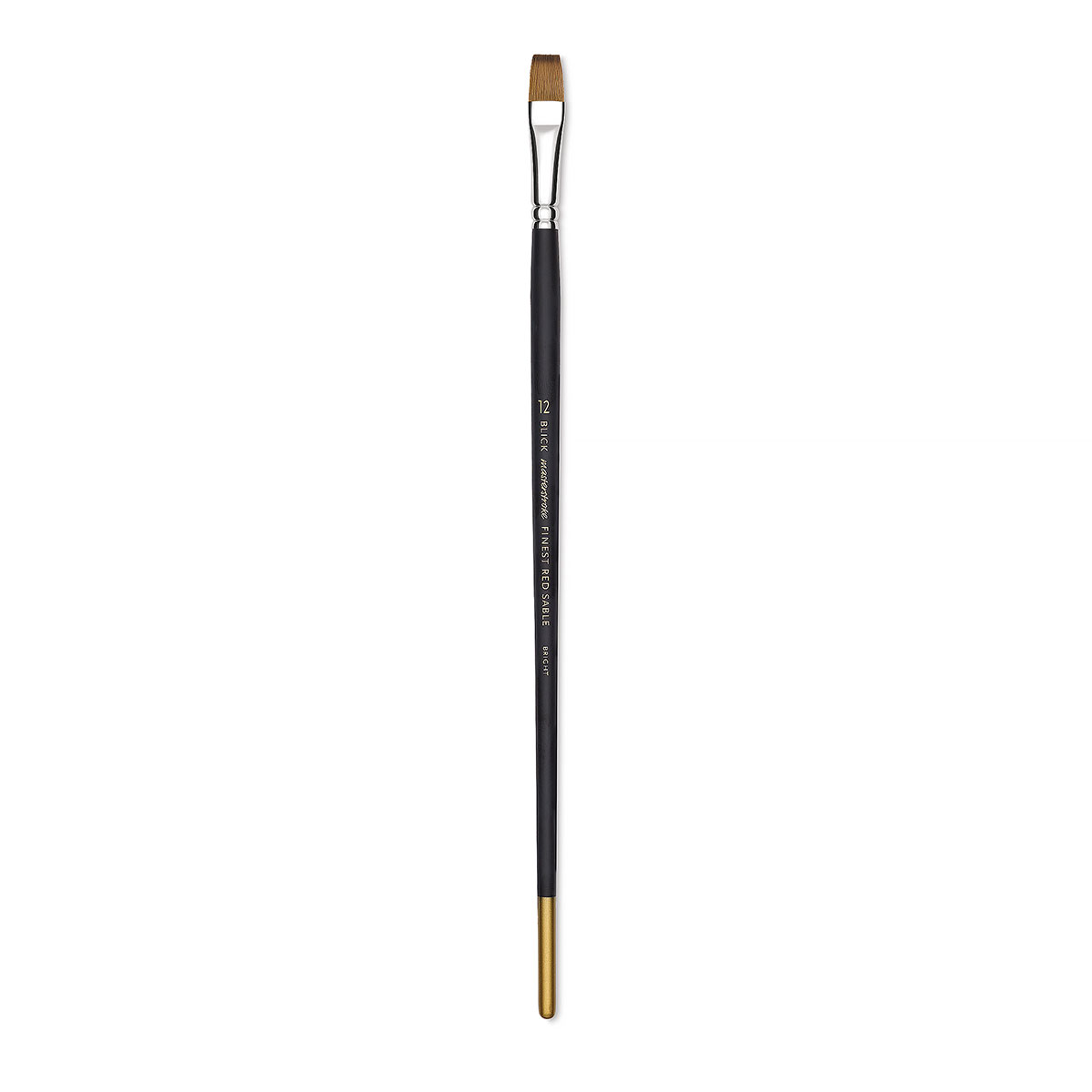 Blick Masterstroke Finest Red Sable Brush - Bright, Size 12, Long Handle