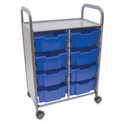 Gratnells Callero Storage Cart with 8 Deep Trays - Royal Blue