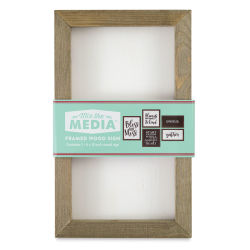 Hampton Art Mix the Media Framed Board - White Panel, 6'' x 10''