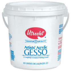 Utrecht Acrylic White Gesso, One gallon.