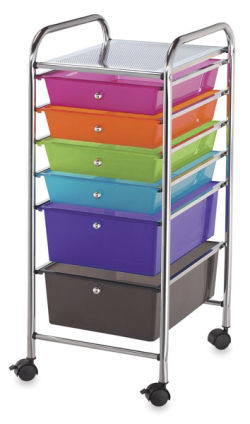Mobile Storage Cart, 6-Drawer