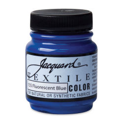 Jacquard Textile Color - Fluorescent Blue, 2.25 oz jar
