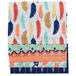Fabric Expressions Iron-On Fabric Sheets - Feathers and Arrows, Pkg of 6