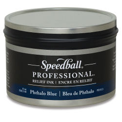 Speedball Professional Relief Ink - Phthalo Blue, 8  oz