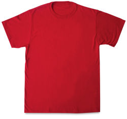 First Quality 50/50 T-Shirts, Adult Sizes - Red Medium