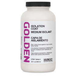 Golden Acrylic Medium - Isolation Coat, 32 oz