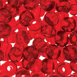 John Bead Czech Seed Beads - Light Red, Transparent, 32/0, 19 g