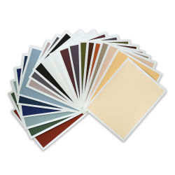 Art Spectrum Colourfix Smooth Pastel Paper - Rainbow Pack, 9'' x 12'', Pkg of 20 Sheets