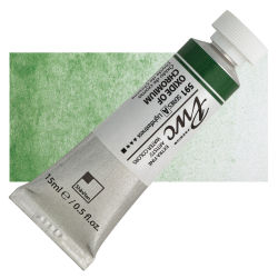 PWC Extra Fine Professional Watercolor - Oxide of Chromium, 15 ml, Swatch with Tube