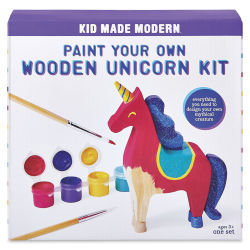 Kid Made Modern Paint Your Own Kit - Unicorn (Front of packaging)