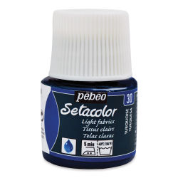 Pebeo Setacolor Fabric Paint - Turquoise, Light Fabric, 45 ml bottle