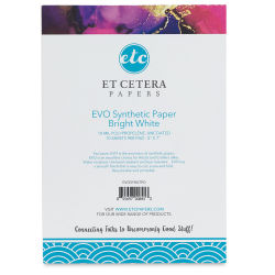 "Et Cetera Papers Evo Synthetic Paper Pad - 5"" x 7"", 10 Sheets (front cover)"