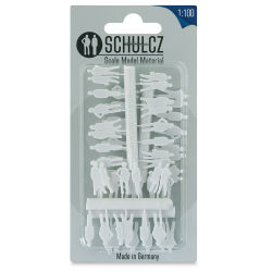 "Schulcz Scale Model Figures - Silhouette, Pkg of 40, 1:100, 1/8"" (front of package)"