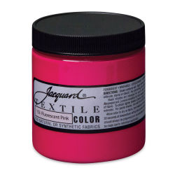 Jacquard Textile Color - Fluorescent Pink, 8 oz jar