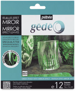 Pebeo Gedeo Mirror Effect - Green Leaf, 12 sheets