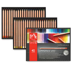 Luminance Colored Pencil Set - Assorted Colors, Set of 40