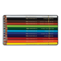 Holbein Artists' Colored Pencils - Basic Tones, Set of 12, Tin Box