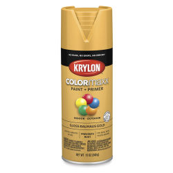 Krylon Colormaxx Spray Paint - Bauhaus Gold, Gloss, 12 oz